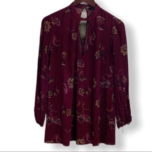 Forever 21 Maroon Tunic Top